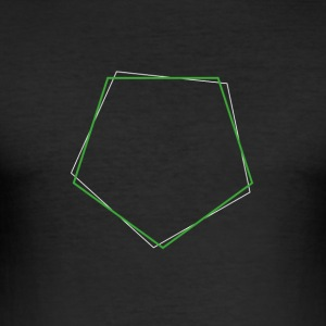 Skiftat polygon Grön - Slim Fit T-shirt herr