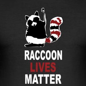 Raccoon Lives Matter - Slim Fit T-skjorte for menn