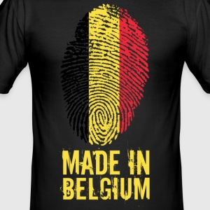 Made In Belgium / Belgien / Belgique / België - Männer Slim Fit T-Shirt