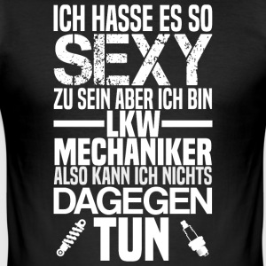 Sexy LKW-Mechaniker - Männer Slim Fit T-Shirt