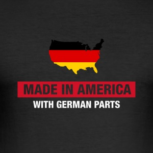 Made In America With German Parts Germany Flag - Slim Fit T-shirt herr