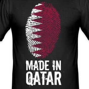 Made In Qatar / Qatar / قطر - Slim Fit T-shirt herr