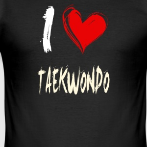 I Love TAEKWONDO - Men's Slim Fit T-Shirt