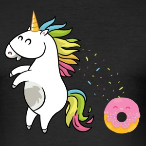 Unicorn Donut - Slim Fit T-skjorte for menn
