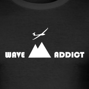 Wave addict white - Tee shirt près du corps Homme