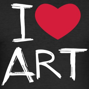 I love Art - Men's Slim Fit T-Shirt