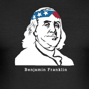 Benjamin Franklin American Patriot - Slim Fit T-shirt herr
