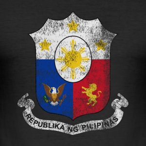 Filipino Wappen Philippinen Symbol - Männer Slim Fit T-Shirt
