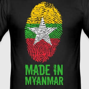 Made In Myanmar / Birma / Burma - Männer Slim Fit T-Shirt