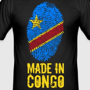 Made In Kongo / DRC / Zaire - Slim Fit T-skjorte for menn