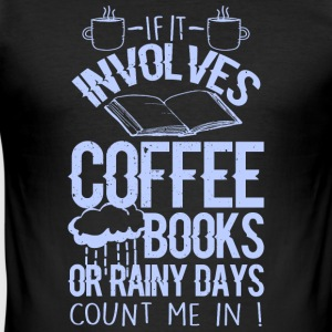 Coffee and books - Men's Slim Fit T-Shirt