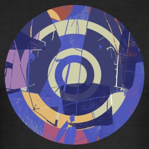Circle design abstract colour 001 - slim fit T-shirt