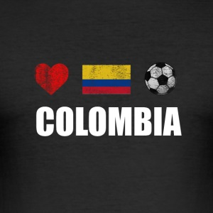 Colombia Football Colombian Soccer T-shirt - Slim Fit T-shirt herr