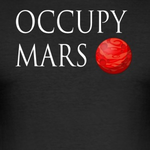 Occupy March Space - Men's Slim Fit T-Shirt