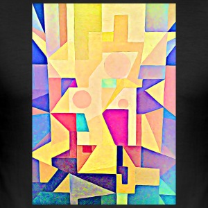 TRINITY geometric painting retro style pastel - Men's Slim Fit T-Shirt