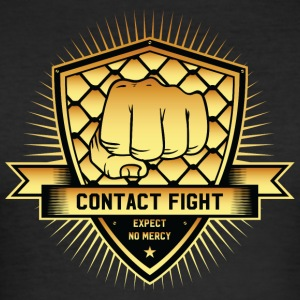 Contact Fight Gold - Men's Slim Fit T-Shirt