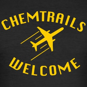 chemtrails Welcome - Men's Slim Fit T-Shirt