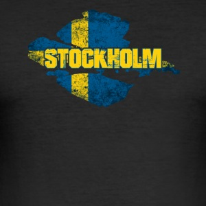 Stoccolma - Swedish Flag Sweden design - Maglietta aderente da uomo