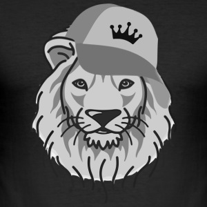 Lion Reggae Hip-Hop - Männer Slim Fit T-Shirt