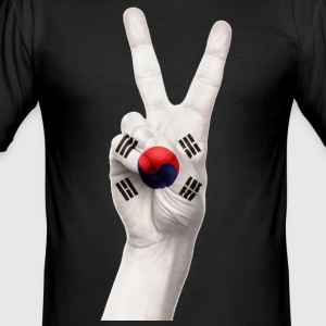 Korea Peace T-SHIRT - Männer Slim Fit T-Shirt