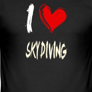 I love skydiving - Men's Slim Fit T-Shirt