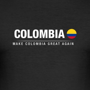 Husband Colombia Great Again - Men's Slim Fit T-Shirt