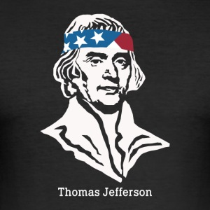 President Thomas Jefferson American Patriot Vintag - Men's Slim Fit T-Shirt