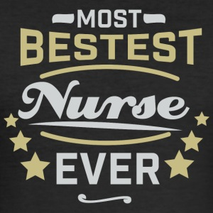 Best Nurse Ever - Shirt - Men's Slim Fit T-Shirt