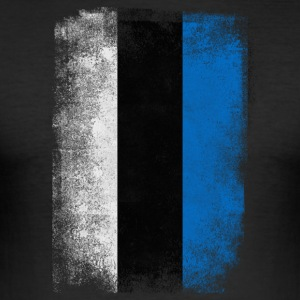 Estland Flag Proud Estonian Vintage Distressed - Herre Slim Fit T-Shirt