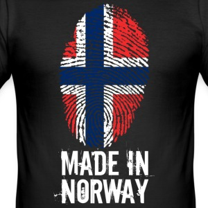 Made In Norge / Norge / Norge / Noreg - Slim Fit T-skjorte for menn