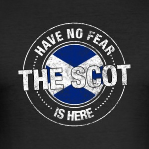 Har ingen frygt The Scot er her Shirt - Herre Slim Fit T-Shirt
