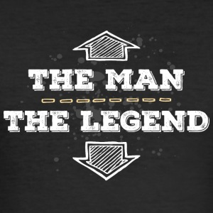 the Man the Legend legendär Sexprotz Macho Titan - Männer Slim Fit T-Shirt