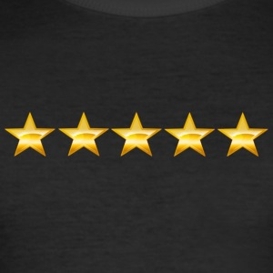 Five stars - Männer Slim Fit T-Shirt