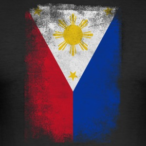 Filippinene Filipino Flag Stolt Vintage Look - Slim Fit T-skjorte for menn
