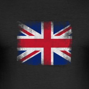 Storbritannia Flag Proud British Vintage Distress - Slim Fit T-skjorte for menn