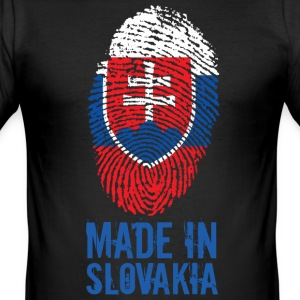 Made in Slovakia / Gemacht in Slowakei Slovensko - Männer Slim Fit T-Shirt