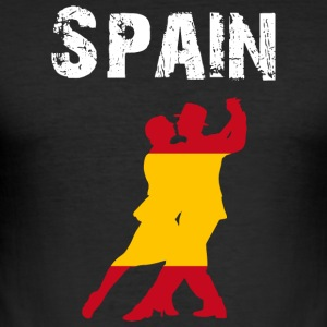 Nation-Design Spain Flamenco - Männer Slim Fit T-Shirt