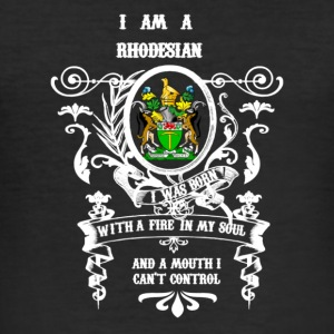 Rhodesian Born Soul - Slim Fit T-shirt herr