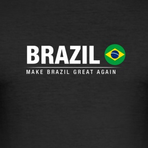 Ægtemand Brasilien Great Again - Herre Slim Fit T-Shirt