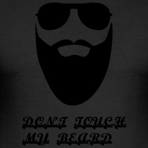 Do not Touch My Beard - Slim Fit T-skjorte for menn