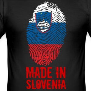 Made in Slovenia / Gemacht in Slowenien Slovenija - Männer Slim Fit T-Shirt