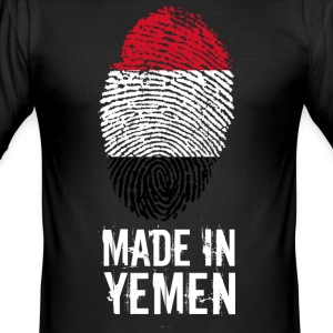 Made In Yemen / Yemen / الجمهورية اليمنية - Men's Slim Fit T-Shirt