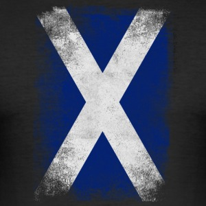 Scotland Flag Proud Scottish Vintage Distressed - Slim Fit T-shirt herr