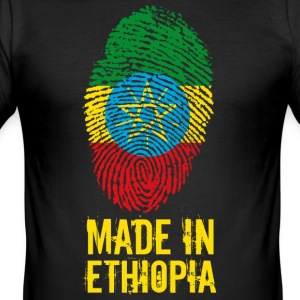 Gemaakt in Ethiopië / Ethiopië / ኢትዮጵያ - slim fit T-shirt