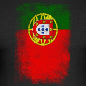 Portugal Flag Proud Portoguese Vintage Distressed - Herre Slim Fit T-Shirt