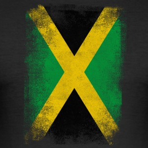 Jamaica Flag Proud Jamaican Vintage Distressed - Slim Fit T-shirt herr