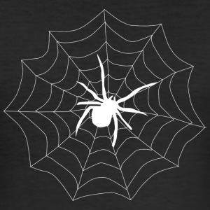 Spider on its web - Men's Slim Fit T-Shirt