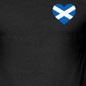 Schottland-Flagge Shirt Herz - Scottish Shirt - Männer Slim Fit T-Shirt