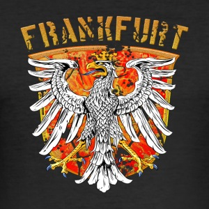 Frankfurt Stadtwappen Adler Design - Gold Edition - Männer Slim Fit T-Shirt