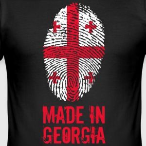 Made in Georgia / Gemacht in Georgien საქართველო - Männer Slim Fit T-Shirt